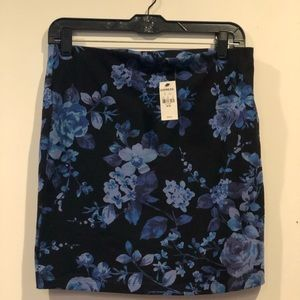 Express Floral Skirt New Size M